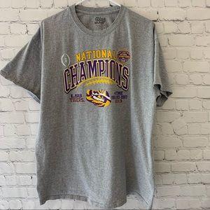 LSU national champions graphic tee shirt
